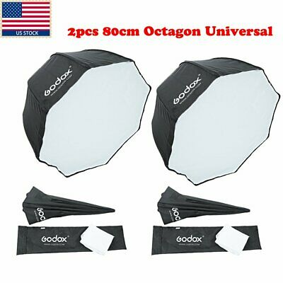 "US Universal 2x Godox Octagon Softbox 80cm/31"" Inch Umbrella f Flash Speedlight"