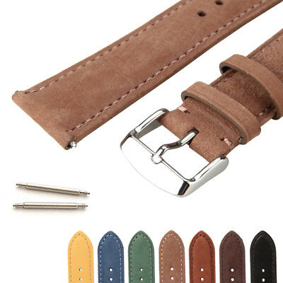 Universal Genuine Cowhide Leather Replacement Watch Strap Watch Band Men Women