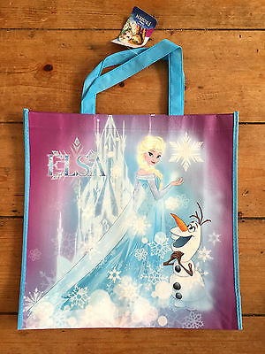 Brand New Disney Frozen Elsa and Olaf Reusable Tote Shopping Bag