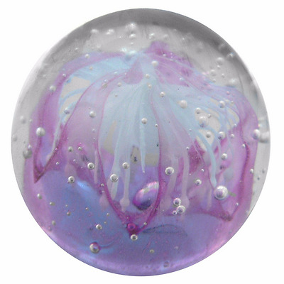 New Glass Mini Ball Gift Boxed Lilac Dancing Girl Pink Paperweight 6 x 6 x 6 cm