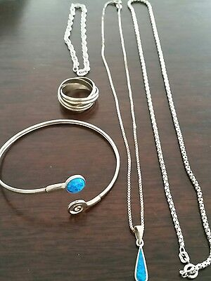 Sterling Silver Jewelry Necklace  bracelet bangle rings lot