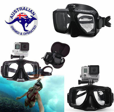 Diving Scuba Snorkel Swimming Goggles Camera Mount Mask For GoPro Hero 5 4 3 2