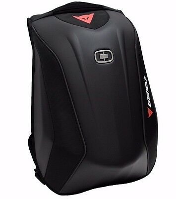 Aerodynamic Low Drag Motorcycle HARDSHELL BACKPACK Laptop Bag Stealth Black