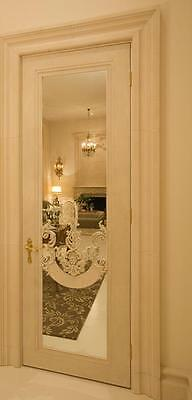 French Style Mirrored Doors with Cartouche