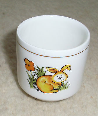 Beautiful Vintage Royal Vale England Chick Rooster And Rabbit Eggcup