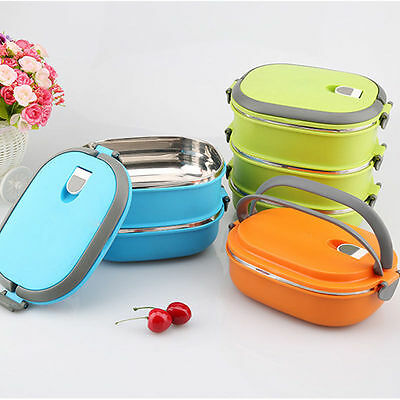 Hot Insulated Lunch Bento Box Food Storage Container Thermo Server Thermal HT357