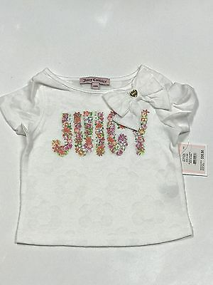 New Juicy Couture Infant/baby Girl T-Shirt Top – Size 6/12M