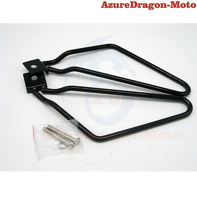 Steel SaddleBag Luggage Support Bars Bracket For Harley FXST FLST Model AU