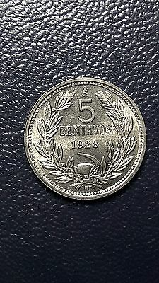 coin Chile 5 cents 1928 high grade, Excellent state