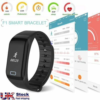 SP F1 Smart Watch Blood Pressure Heart Rate Monitor Fitness Sports Bracelet Band