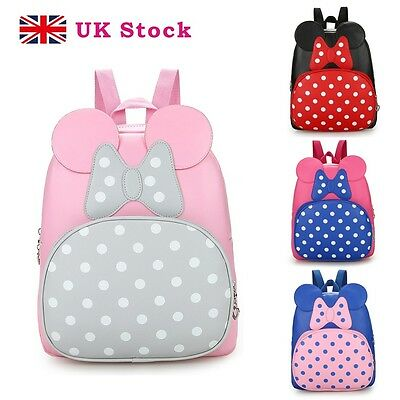 Womens Girls PU Leather Shoulder School Travel Bag Mini Backpack Rucksack Cute