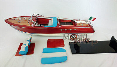 "RC ready Riva Aquarama Model Speedboat 36"" Gorgeous hand-made wooden boat"
