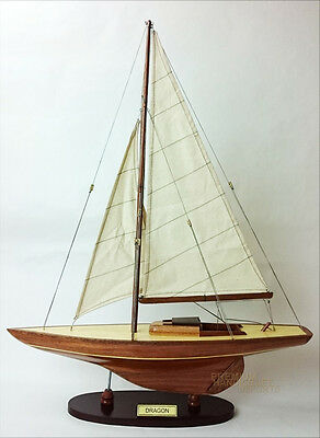 "24"" Dragon Wooden Sailing Boat Model"