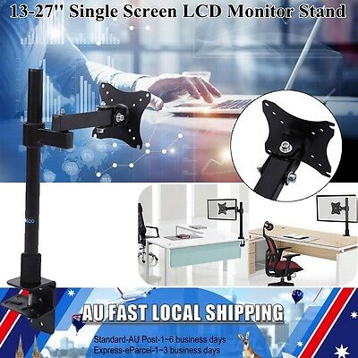 """13-27"""" LCD Monitor Bracket Computer Display Single Arm Mount Stand Brand NEW"""