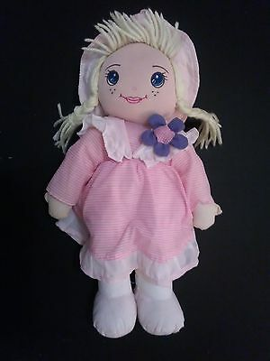 very rare simba rag doll Soft bodied pink with blue flower