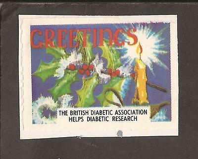 GB Christmas Charity stamp/label. (on paper) Diabetic research