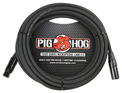 25' 8mm Pig Hog Mic Cable PHM25 Microphone XLR [ Lifetime Warranty ]
