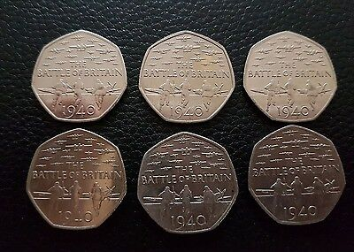 the battle of britain 50p coins