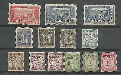 Andorre Mounted Mint Definitive Nice Selection Ref  378