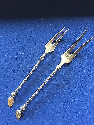 For: Clockel13 Norway J 830S Silver Twisted Handle & Leaves Forks