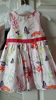 Ted Baker baby size 18-24months dress pretty/flowery/butterflies