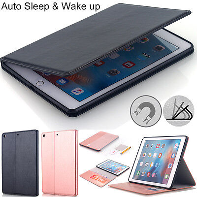 For Apple iPad Pro 2017 Case Folio Leather Wallet Stand Sleep/Wake Smart Cover