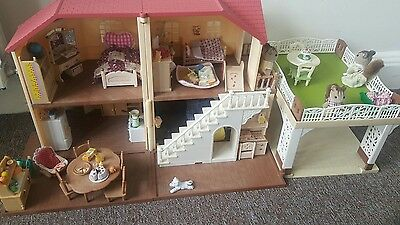 Sylvanian families house with more parts and squirrel family