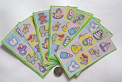 Scrapbooking No 122 - 64 Small Baby Card Stock Embellishment Squares