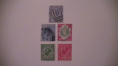 Great Britain : 5 Early English Stamps.used,m/h. $$$$$$$$$$ H/v.