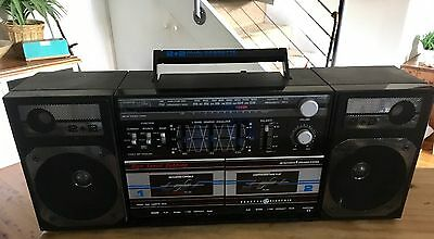 Boom box Radio Cassette Player With Electric Cord General Electric