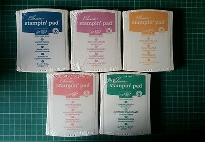Stampin Up Full Set of 5 2016-2018 In Color Stamp Pads. New. Sealed