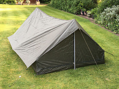 French Army Surplus 2 Man Tent - New bushcraft olive green