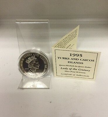 Turks And Caicos islands 1995 Coin Lady Of The Century