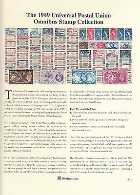 British Commonwealth 1949 UPU Omnibus full set of stamps lightly mounted mint