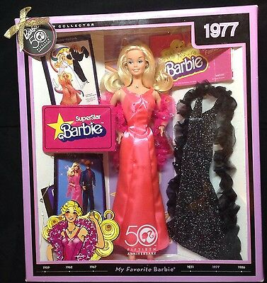NEW IN BOX 1977 Superstar Barbie 50th Anniversary Mattel (2008) MINT Collector