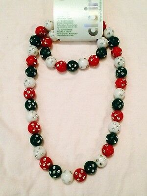 Claire's Christmas Necklace And Bracelet