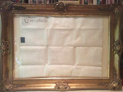 Antique Legal Document 1781 On Vellum- Unframed