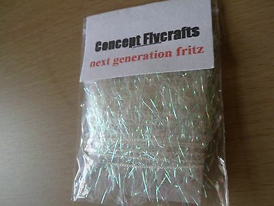 2 metre pack of white pearl fritz long flowing fly tying kit material