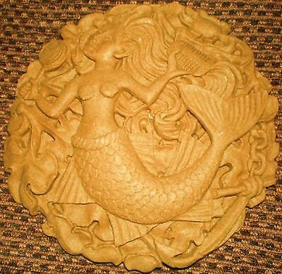 Latex Craft Mould To Make Mermaid Plaque Reusable Art & Crafts Hobby