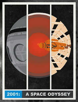 """007 2001 A Space Odyssey - Keir Dullea Classic Movie 24""""x31"""" Poster"""