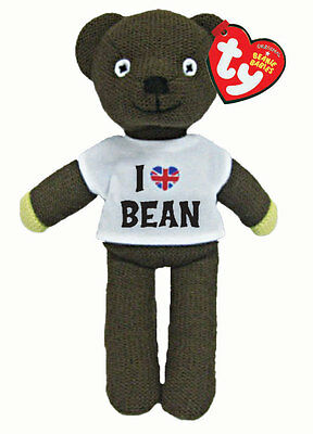 Mr Bean's Teddy in t-shirt official Beanie Baby soft toy by Ty - 25cm - 46204