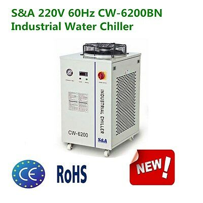 USA S&A 220V 60Hz CW-6200BN Industrial Water Chiller for 600W CO2 Laser Cooling