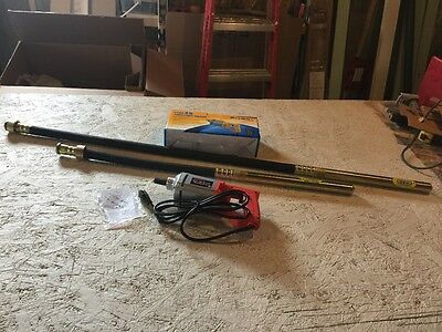"Concrete Vibrator 1 hp TWO needles 39"" and 58"" FREE SHIP Canada"