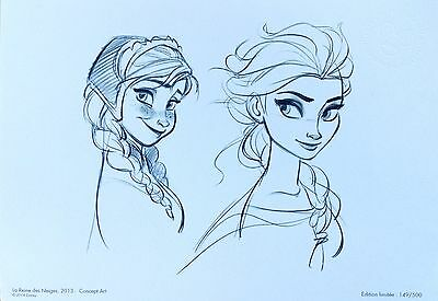 Lithographie Frozen ♥ Disney Limited Edition Limitee lithograph reine des neiges