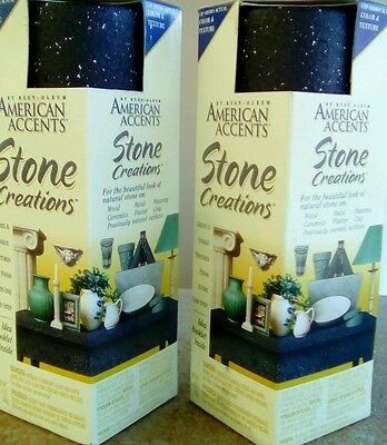 stone creations 2x spray cans american accents by rust-oleum.black granite
