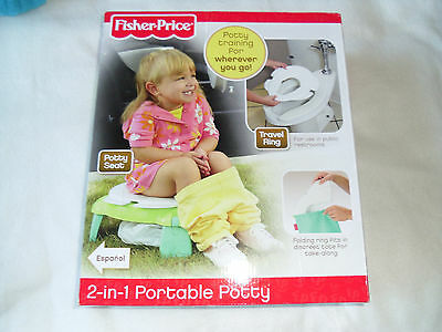 FISHER PRICE PORTABLE POTTY 2 in 1 ' used only once '