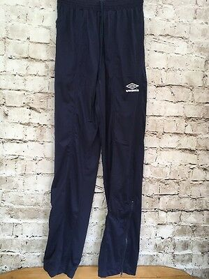 VINTAGE 1980s Umbro Polyester Tracksuit Bottoms Blue Men's Medium   OG