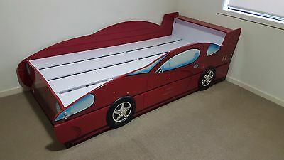 Kids Car Racing Red Single Trundle Bed