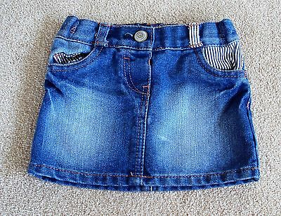 baby girls George denim skirt, age 18-24 months.