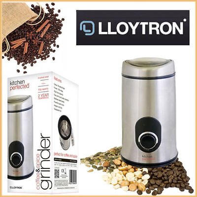 Electric Coffee & Spice Grinder Herb Beans Nut Crusher 50g Kitchen Appliance NEW